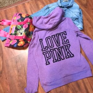 Purple hoody Victoria's Secret sweatshirt
